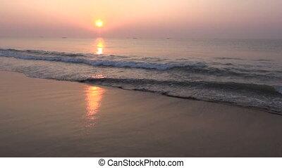 beautiful Arabian sea sunrise,India