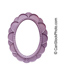 Beautiful architectural frame isolated on a white background