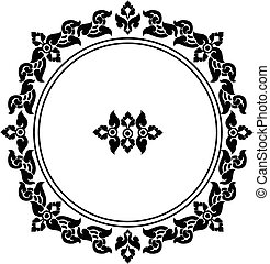 circle frame of Thai pattern