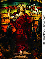 Jesus - Beautiful artistic stained glass portrait of Jesus