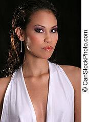 beautiful asian brunette