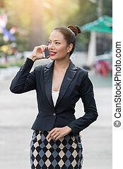 Beautiful Asian business women are calling.