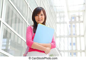 beautiful asian college girl