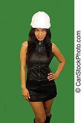 Beautiful Asian Female Construction Worker (4)