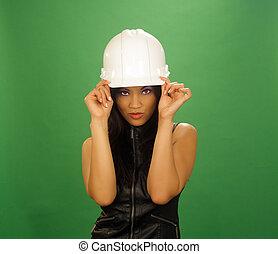 Beautiful Asian Female Construction Worker (6)
