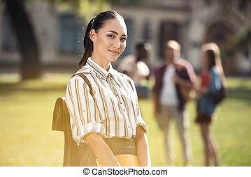 beautiful asian student