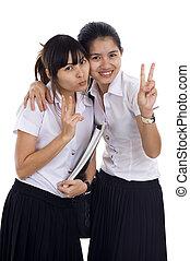 beautiful asian students