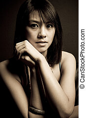 Beautiful asian woman - A portrait of a beautiful asian ...