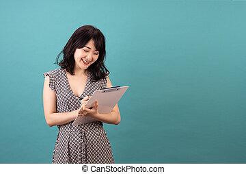 Beautiful asian woman wearing dress