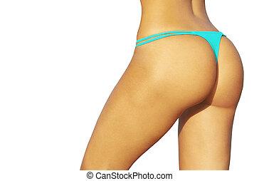 Beautiful ass of young woman close up