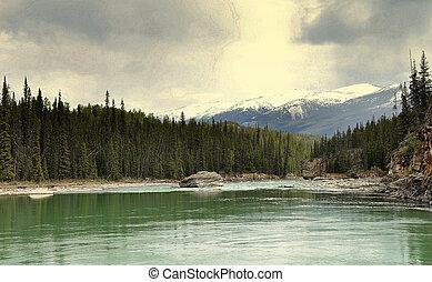 athabasca river - beautiful athabasca river