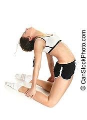doing fitness exercise