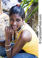 beautiful attractive hispanic young black woman native of...