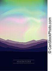 beautiful aurora borealis background colorful sky