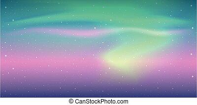 beautiful aurora borealis background colorful starry sky