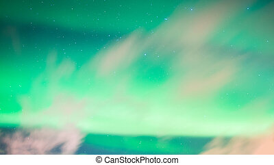 Beautiful Aurora Borealis northern lights