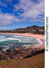 Beautiful Australian Beach on the Pacific Ocean