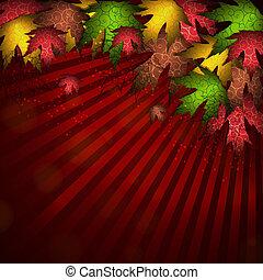 Beautiful autumn background vector illustration.