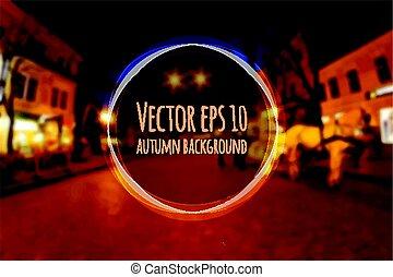 Beautiful autumn blurred vector background.