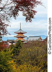 Kiyomizu-dera Temple in Kyoto, Japan - Beautiful autumn...