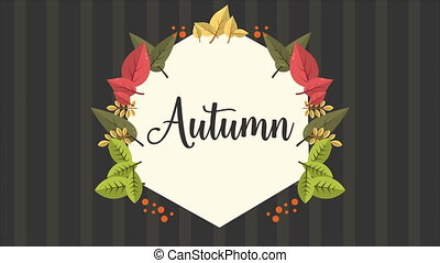 Beautiful autumn day animation background