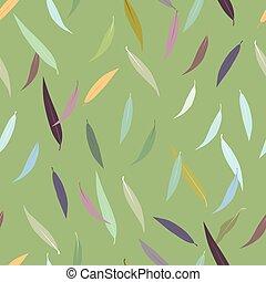 Beautiful autumn leaves seamless pattern