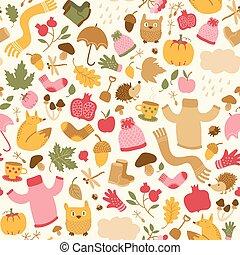 Beautiful Autumn Seamless Pattern