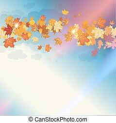 Beautiful autumn sky