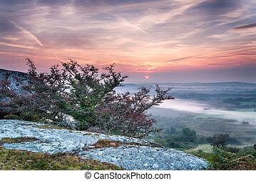 Beautiful Autumn Sunrise - A beautiful Autumn sunrise over a...