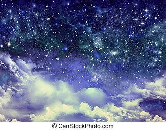 night sky - beautiful background of the night sky with stars