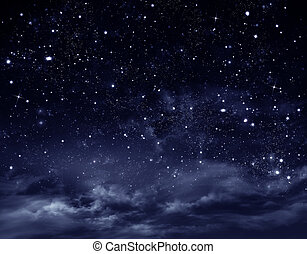 night sky - beautiful background of the night sky with stars
