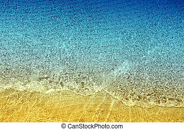 Beautiful background seawater poured light photographed close up