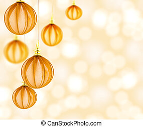 Beautiful background with elegant Christmas decorations