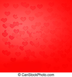 Beautiful background with hearts