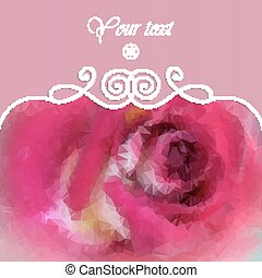 beautiful background with pink rose