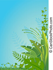 tropical branches - Beautiful background with tropical ...