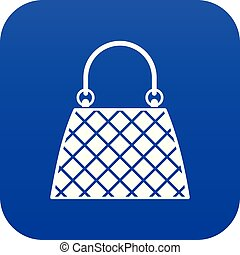 Beautiful bag icon digital blue for any design isolated on white vector illustration