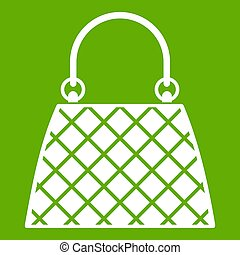 Beautiful bag icon green