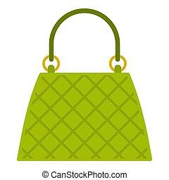 Beautiful bag icon isolated