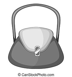 Beautiful bag icon monochrome