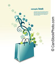 Beautiful bag illustration with place for text