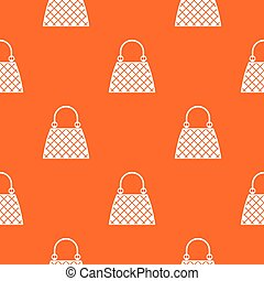 Beautiful bag pattern repeat seamless in orange color for any design. Vector geometric illustration
