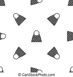 Beautiful bag pattern seamless black