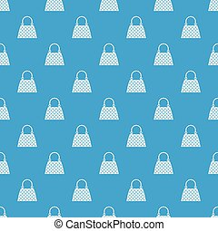 Beautiful bag pattern repeat seamless in blue color for any design. Vector geometric illustration