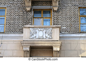 Beautiful balcony on the building