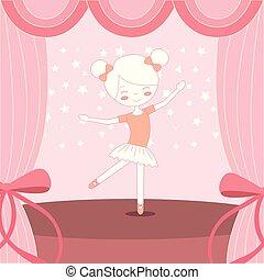 beautiful ballerina ballet on stage