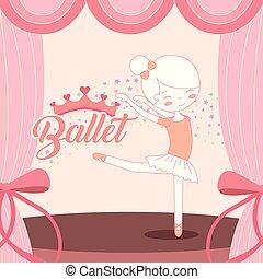 beautiful ballerina ballet performance on stage