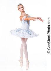 Beautiful ballerina - Beautiful young ballerina in classical...