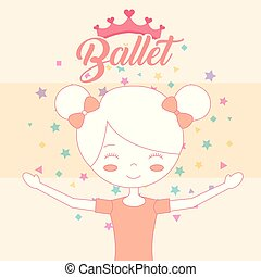 beautiful ballerina in bun hair crown ballet