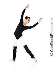 Beautiful ballerina practising her ballet